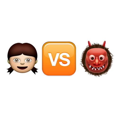 Halloween Emoji answer: GIRL VS MONSTER