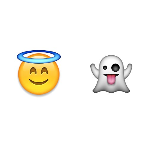Halloween Emoji answer: HOLY GHOST