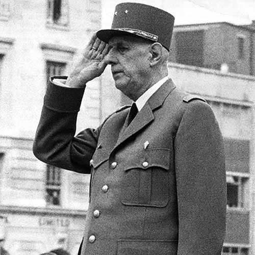 History answer: DE GAULLE