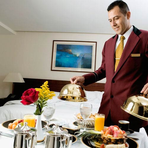 Holidays answer: ROOM SERVICE