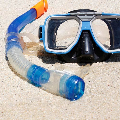 Holidays answer: SNORKEL AND MASK