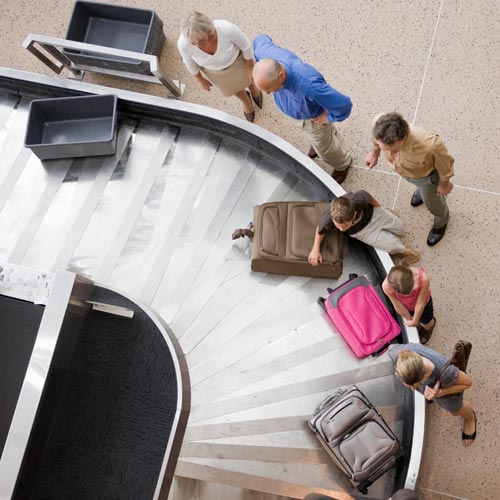 Holidays answer: BAGGAGE CLAIM