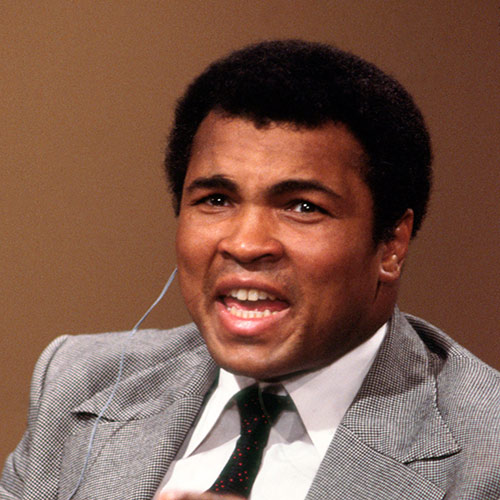 Icons answer: MUHAMMAD ALI