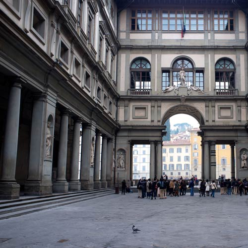 I Love Italy answer: UFFIZI GALLERY