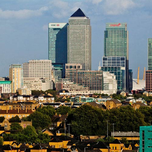Landmarks answer: CANARY WHARF