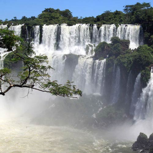 Landmarks answer: IGUAZU FALLS