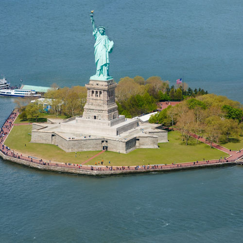 Landmarks answer: LIBERTY ISLAND