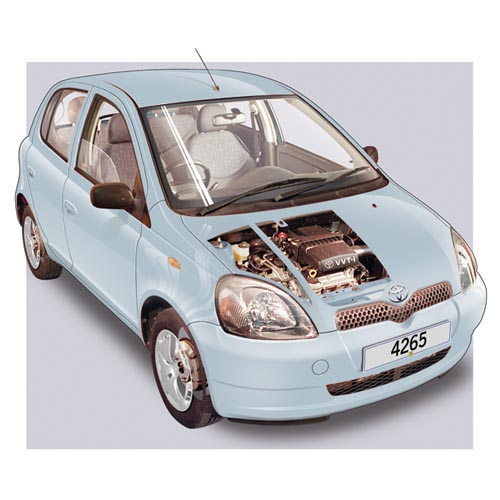 Modern Cars answer: TOYOTA YARIS