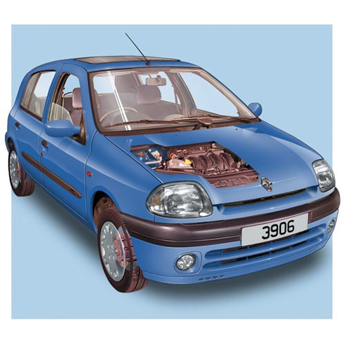 Modern Cars answer: RENAULT CLIO MK2
