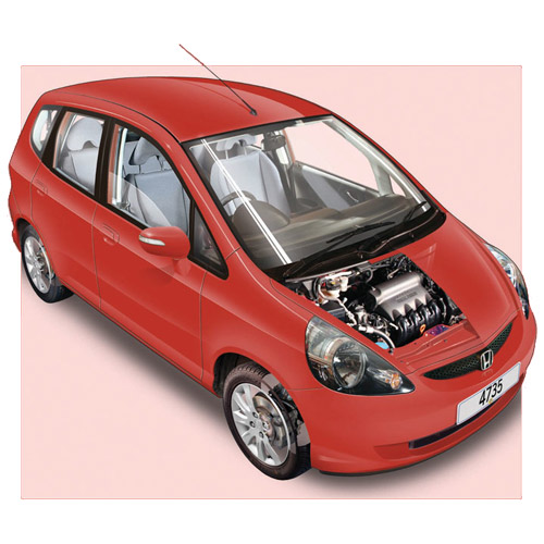 Modern Cars answer: HONDA JAZZ