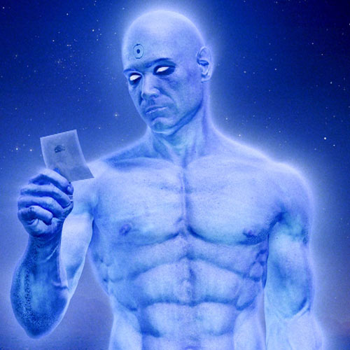 Movie Heroes answer: DR MANHATTAN