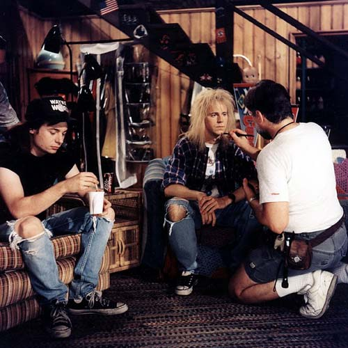 Movie Sets answer: WAYNES WORLD