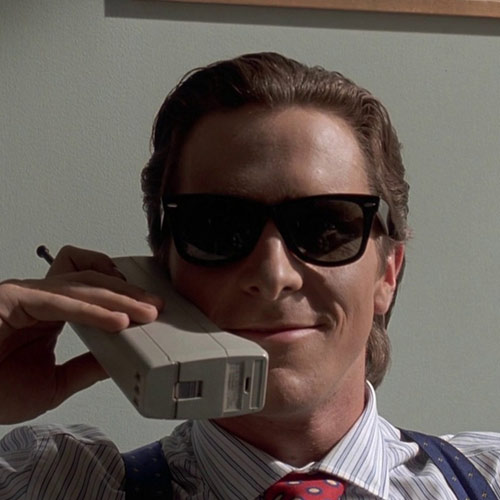 Movie Villains answer: PATRICK BATEMAN