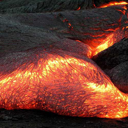 Nature answer: LAVA