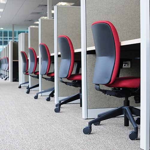 Office answer: CUBICLES
