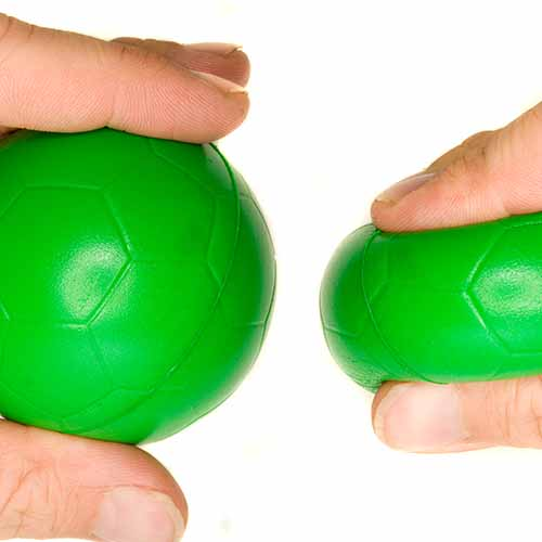 Office answer: STRESS BALL