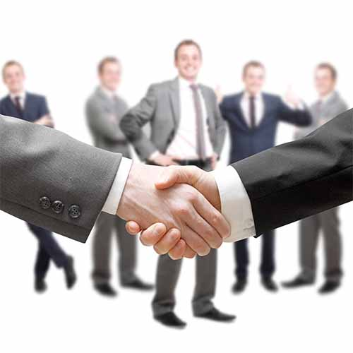 Office answer: HANDSHAKE