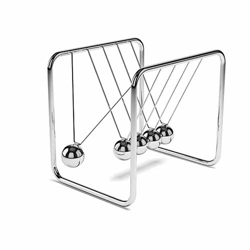 Office answer: NEWTONS CRADLE