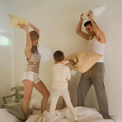 Parenting answer: PILLOW FIGHT