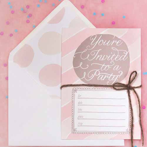 Party answer: INVITATIONS