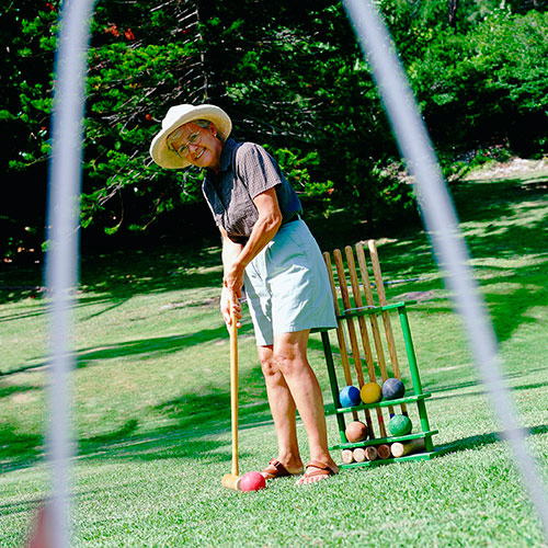 Q is in... answer: CROQUET
