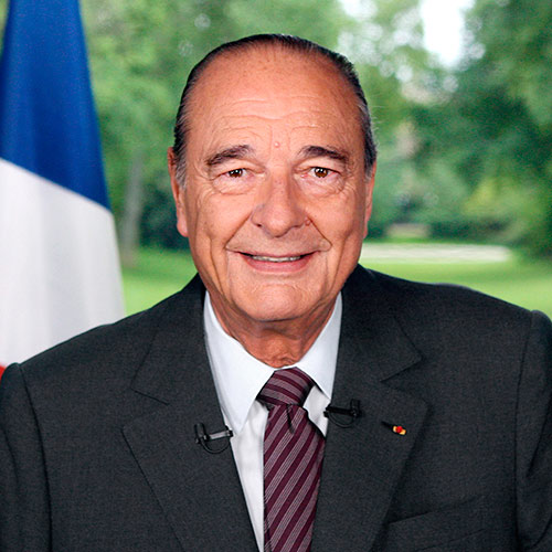 Q is in... answer: JACQUES CHIRAC