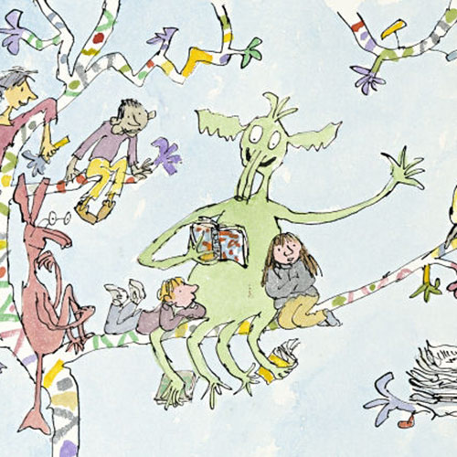 Q is in... answer: QUENTIN BLAKE