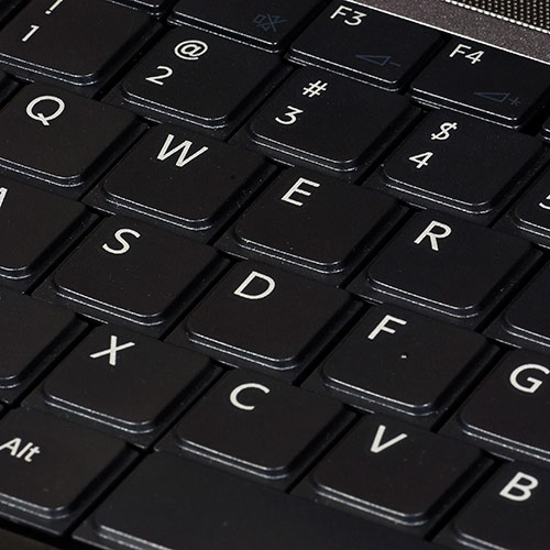 Q is in... answer: QWERTY