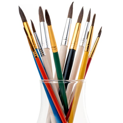 School answer: PAINTBRUSHES