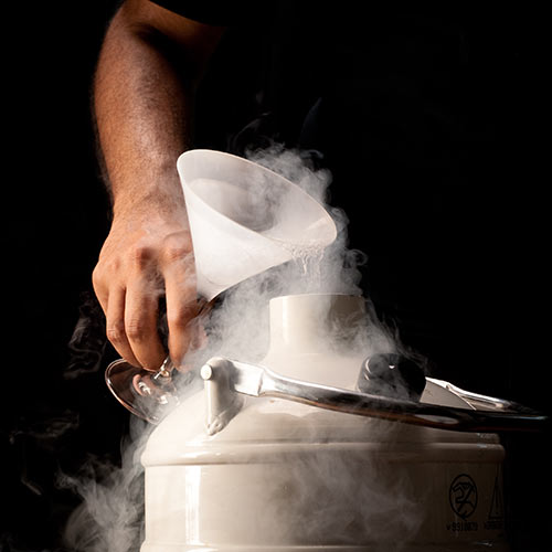 Science answer: LIQUID NITROGEN