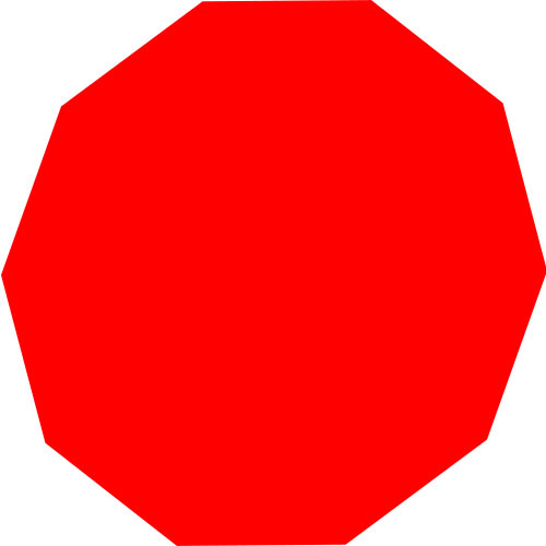 Shapes answer: DECAGON