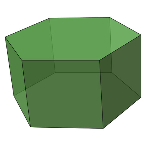 Shapes answer: HEXAGONAL PRISM