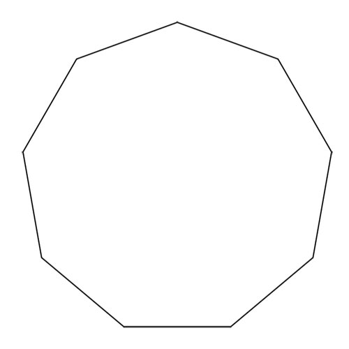 Shapes answer: NONAGON
