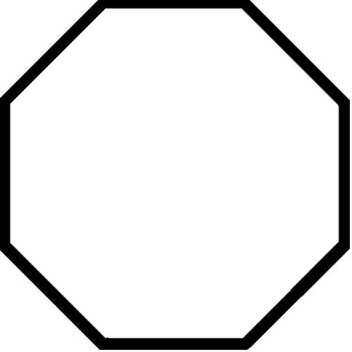 Shapes answer: OCTAGON