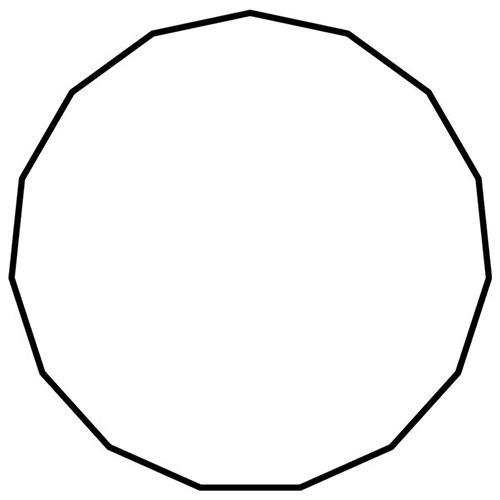 Shapes answer: PENTADECAGON