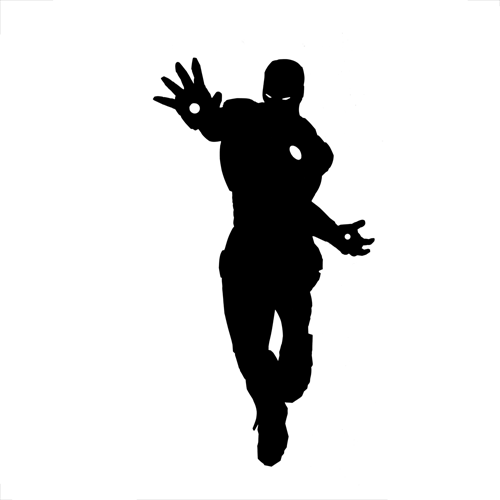 Silhouettes answer: IRON MAN