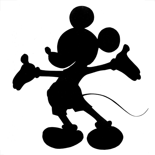 100 pics silhouettes 1 level answer  mickey mouse