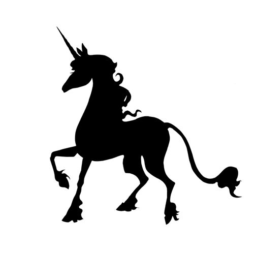 Silhouettes answer: UNICORN