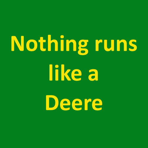 Slogans answer: JOHN DEERE