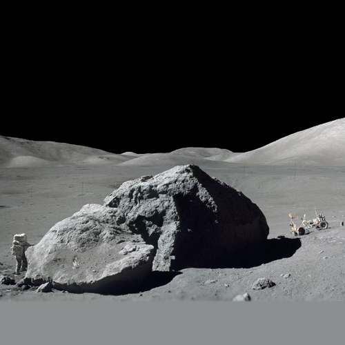 Space answer: MOON ROCK
