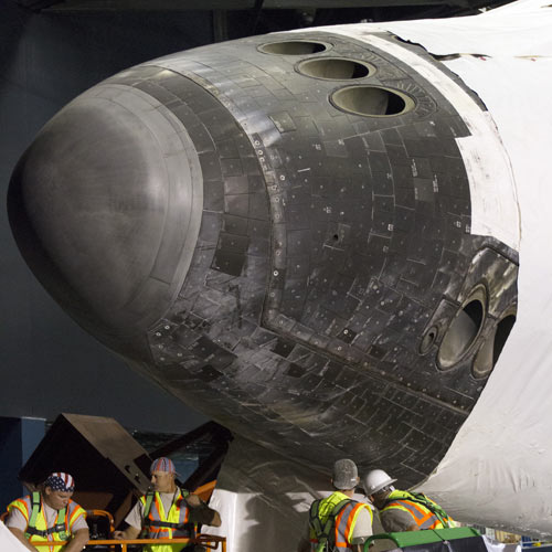 Space answer: NOSE CONE