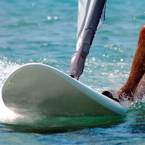 Sports answer: WINDSURFING