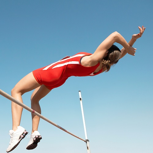 Sports answer: HIGH JUMP