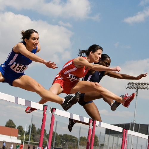 Sports answer: HURDLES