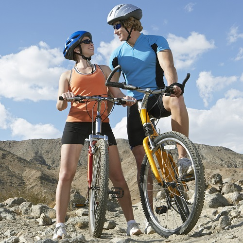 Sports answer: MOUNTAIN BIKING
