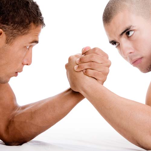 Sports answer: ARM WRESTLING
