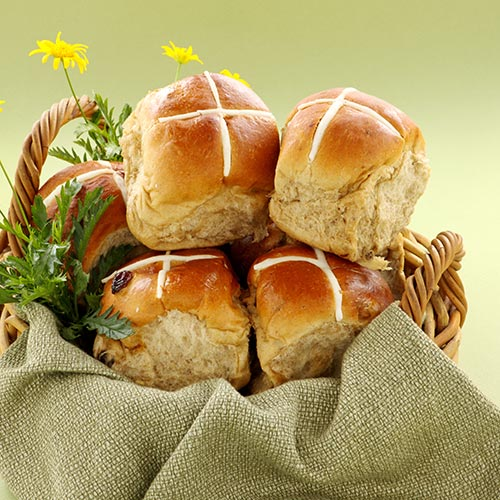 Spring answer: HOT CROSS BUNS