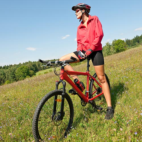 Spring answer: MOUNTAIN BIKING