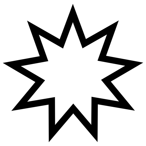 Symbols answer: BAHAI STAR