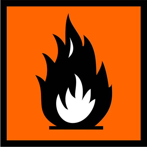 Symbols answer: FLAMMABLE